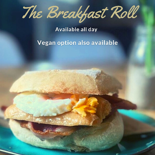 Breakfast Roll with text